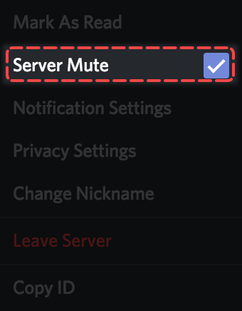 How do I mute and disable notifications for specific